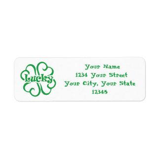 Lucky Address Label