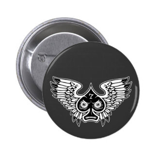 Lucky Angry Winged Spade #7 6 Cm Round Badge