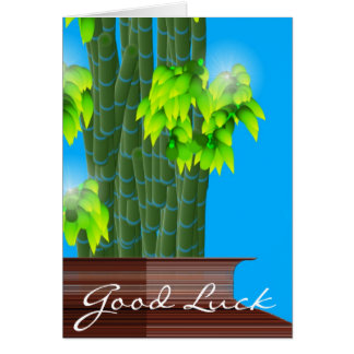 Lucky Bamboo Good Luck Greeting Card