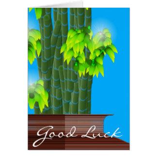 Lucky Bamboo Good Luck Greeting Card