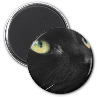 Lucky Black Cat 6 Cm Round Magnet
