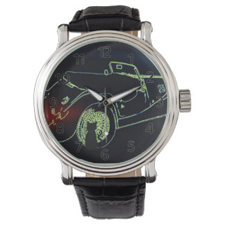 Lucky Black Cat and Sports Car Watch