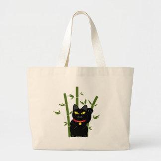 Lucky Black Cat Jumbo Tote Bag