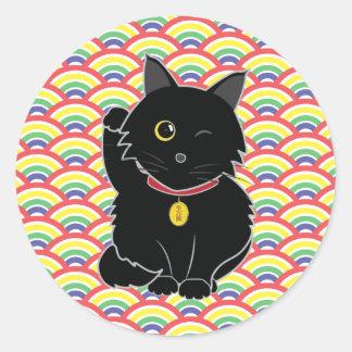 Lucky Black Cat Zelda Sticker