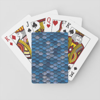 Lucky Blue Dragon Scale Playing Cards