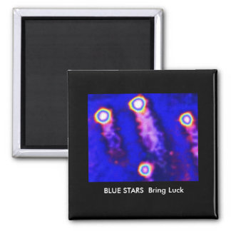 LUCKY Blue Stars Square Magnet