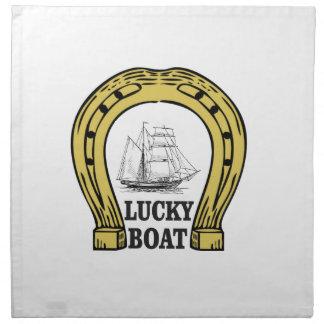 lucky boat at sea napkin
