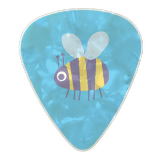 Lucky Bug Bee Pearl Celluloid Guitar Pick