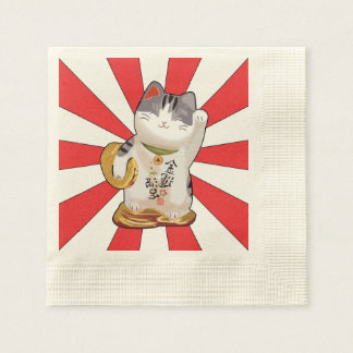 Lucky Cat B Paper Napkin