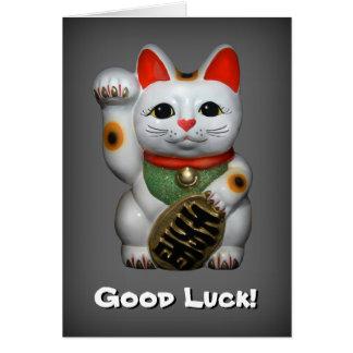 Lucky Cat Good Luck Card