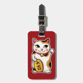 Lucky Cat Japan Luggage Tag - Maneki Neko