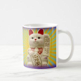 Lucky Cat Japanese Good Luck Waving Cats Mugs