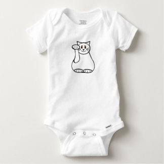 Lucky Cat- Maneki Neko - Beckoning Cat Baby Onesie