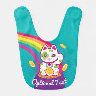 Lucky Cat Maneki Neko Good Luck Pot of Gold Bib