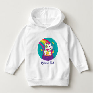 Lucky Cat Maneki Neko Good Luck Pot of Gold Hoodie