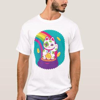 Lucky Cat Maneki Neko Good Luck Pot of Gold T-Shirt