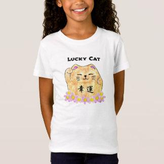 """Lucky Cat (Maneki Neko) - """"Lucky Cat"""" Girls TShirt"""