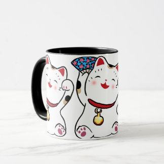 Lucky Cat Maneki Neko mug