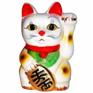 Lucky Cat Maneki Neko Standing Photo Sculpture