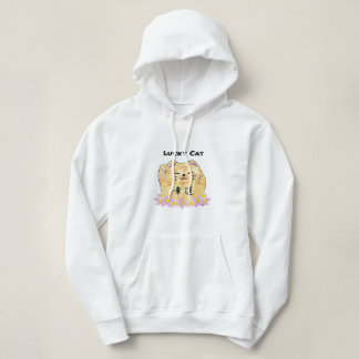 Lucky Cat (Maneki Neko) Women's Hooded Sweatshirt