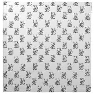 Lucky cat napkin