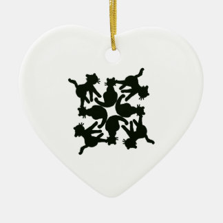 lucky cat pattern,cat picture art ceramic heart decoration