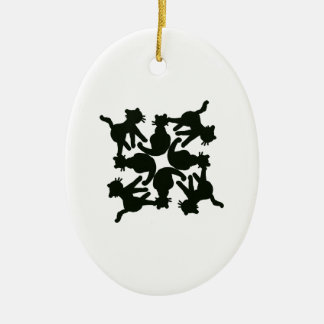 lucky cat pattern,cat picture art ceramic oval decoration