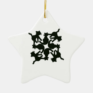 lucky cat pattern,cat picture art ceramic star decoration