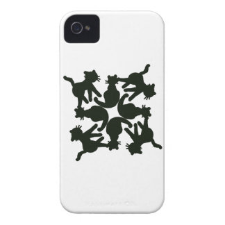 lucky cat pattern,cat picture art iPhone 4 cover