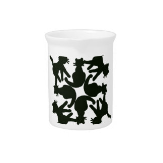 lucky cat pattern,cat picture art pitcher