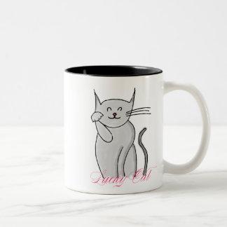 Lucky Cat Two-Tone Mug