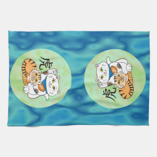 Lucky Cat Year of the Tiger Tea Towel