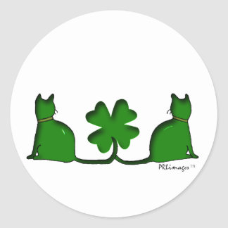 Lucky Cats Classic Round Sticker