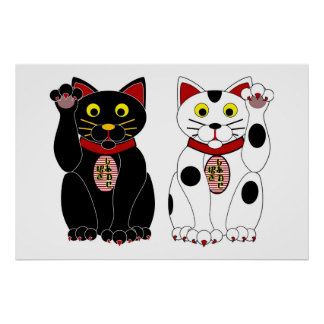 Lucky Cats Posters