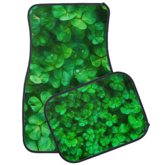 Lucky Celtic Irish Green Shamrocks Floor Mat