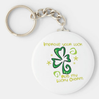 Lucky Charm Basic Round Button Key Ring