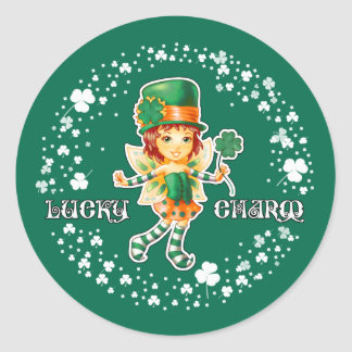 Lucky Charm. Fun St.Patrick's Day Stickers