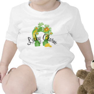 Lucky Charm Horseshoe Shirt Baby Creeper