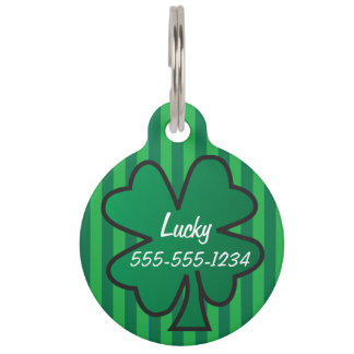 Lucky Charm Shamrock Pet ID Tags