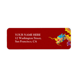 Lucky Chinese Dragon Return Address Label