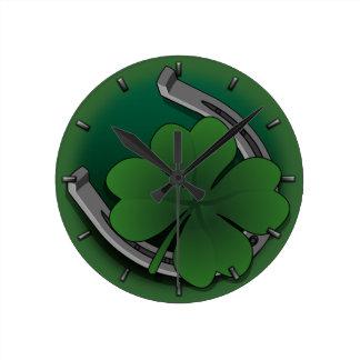 Lucky Clock St Patrick s Lucky Charm Wall Clock