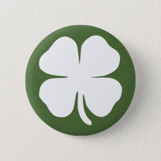 Lucky Clover 6 Cm Round Badge