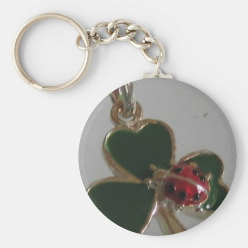 lucky clover and ladybird keychains