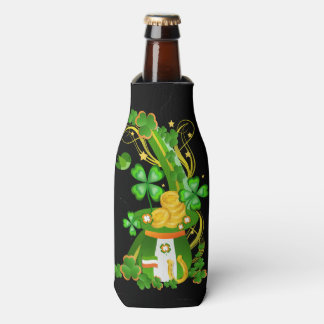 Lucky clover hat bottle cooler