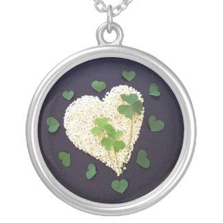 Lucky Clover Heart Necklaces