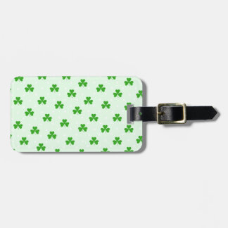 Lucky clover pattern luggage tag