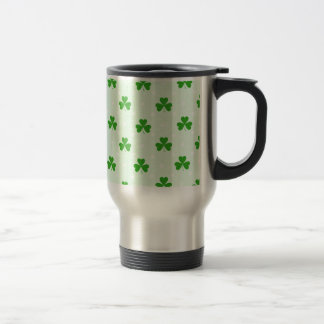 Lucky clover pattern travel mug