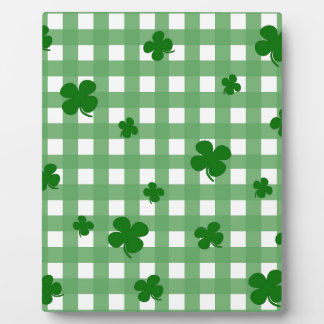 Lucky clover photo plaque