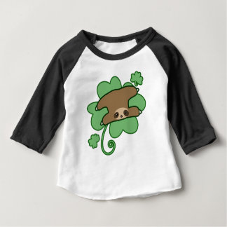 Lucky Clover Sloth Baby T-Shirt