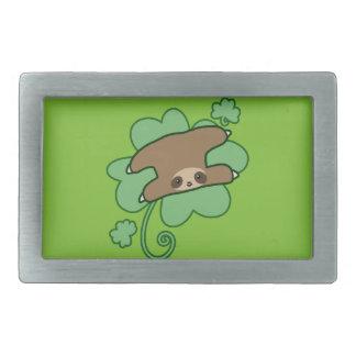 Lucky Clover Sloth Belt Buckle